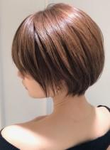 大人上品な美人ショートボブ(髪型ショートヘア)