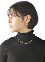 スタイリング簡単ショートボブ(髪型ショートヘア)