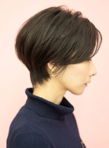 手入れ簡単☆大人可愛い耳かけショート(髪型ショートヘア)