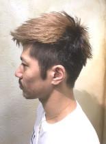 エッジモヒカン(髪型メンズ)
