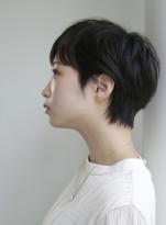 30代40代 くせ毛風ショートヘア
