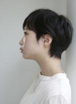 30代40代 くせ毛風ショートヘア(髪型ベリーショート)