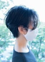 横顔すっきり美しく見せるハンサムショート(髪型ショートヘア)