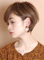 大人の耳掛けショートヘア☆(髪型ショートヘア)