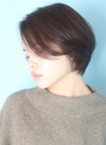 30代40代大人のツヤ感エアリーショート(髪型ショートヘア)