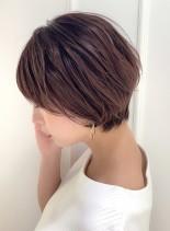 大人綺麗なひし形ショートボブ(髪型ショートヘア)