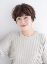 大人カジュアルショートスタイル(髪型ショートヘア)