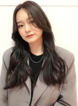 韓国風スタイル(髪型ロング)