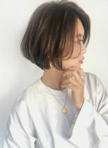30代40代 小顔ひし形ショートボブ  (髪型ボブ)