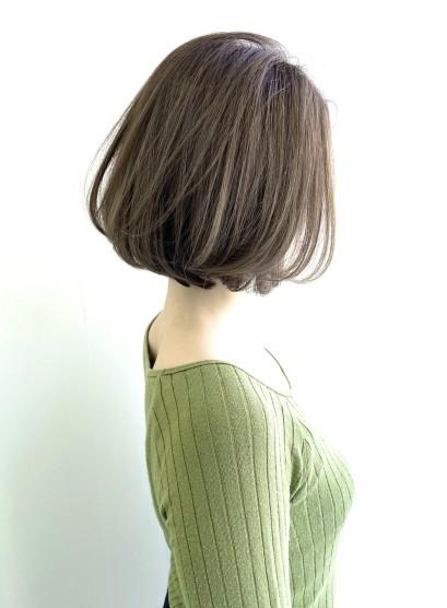 30、40代美シルエットミディアムボブ(髪型ボブ)
