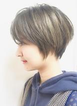 人気ランキング耳かけ大人ショートボブ(髪型ショートヘア)