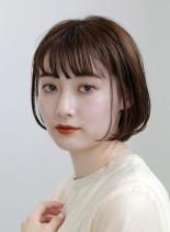 【30代・40代】丸顔似合うショートボブ(髪型ボブ)