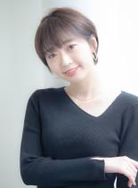 【丸顔に似合う】短め前髪ショート(髪型ショートヘア)