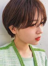 透けバング×ハンサムマッシュ(髪型ショートヘア)