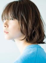 大人ミディアムパーマボブ(髪型ボブ)