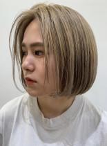 大人の前髪なしボブ(髪型ボブ)