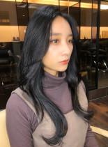 黒髪でもOK!韓国風大人美人ロング(髪型ロング)