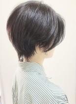 大人の美シルエットハンサムショート(髪型ショートヘア)
