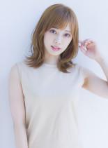 大人かわいい低温デジタルパーマミディアム(髪型ミディアム)