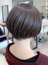 乾かすだけのお手入れ簡単ショートボブ(髪型ショートヘア)