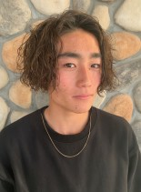 メンズ ☆ ブリーチラフパーマ(髪型メンズ)