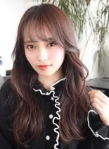 華やか+透明感!韓国風ロングヘア(髪型ロング)