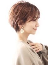 30代40代/小顔丸みショート(髪型ショートヘア)