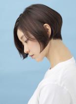 お手入れ楽な大人のグラデーションボブ(髪型ショートヘア)