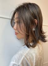 柔らかメリハリハイライト(髪型ボブ)