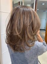 40代50代◎フカフカレイヤーミディ(髪型ミディアム)