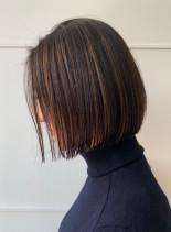 丁度良い長さのコンパクトボブ(髪型ボブ)