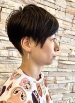 ツーブロック前髪長めヘアー(髪型ベリーショート)