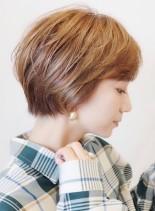 スッキリハイライトの入ったショート(髪型ショートヘア)