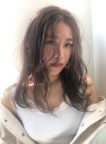 ラベンダーグレー(髪型ロング)