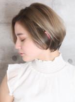 40代からの大人のひし形ショートボブ☆(髪型ショートヘア)