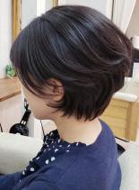 40代50代女性らしいくびれショートボブ(髪型ショートヘア)