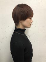 マッシュベリーショート(髪型ショートヘア)