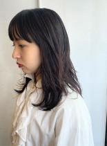ナチュラルレイヤー*(髪型セミロング)