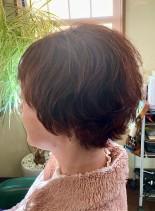 くせ毛を活かしたショートパーマ(髪型ショートヘア)