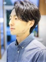 黒髪メンズショート(髪型メンズ)