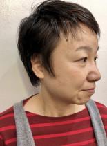 シンプルおしゃれ大人ウルフベリーショート(髪型ベリーショート)