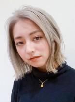 つや髪◎ダメージレスなハイトーンカラー(髪型ボブ)