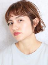 外ハネ☆外国人風カラーショートボブ(髪型ボブ)