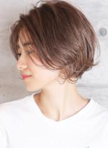 透明感ハイライト無造作ショートボブ(髪型ショートヘア)