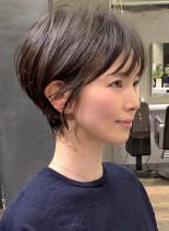 ☆乾かすだけで決まる☆ 大人小顔ショート(髪型ショートヘア)