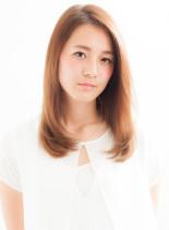 大人女性へのヘルシーミディ(髪型セミロング)