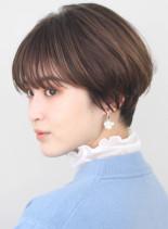大人可愛いすっきり丸みショートヘア(髪型ショートヘア)