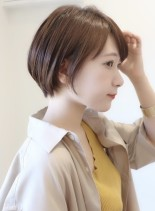 お手入れ簡単30代からのショートボブ(髪型ショートヘア)