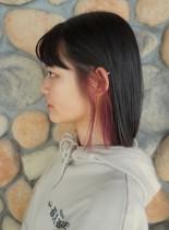 ロブ  ☆ フェイスフレーミングカラー(髪型ボブ)