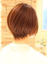 30代40代50代に!ひし形ショートボブ(髪型ショートヘア)